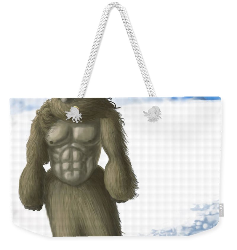 Abominable Snowman Weekender Tote Bag featuring the photograph Yeti by Spencer Sutton