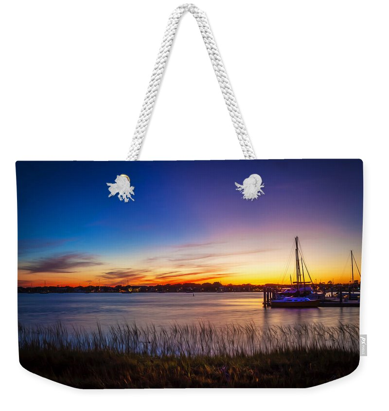 Bridge Of Lions Weekender Tote Bag featuring the photograph Bridge Of Lions St Augustine Florida Painted by Rich Franco