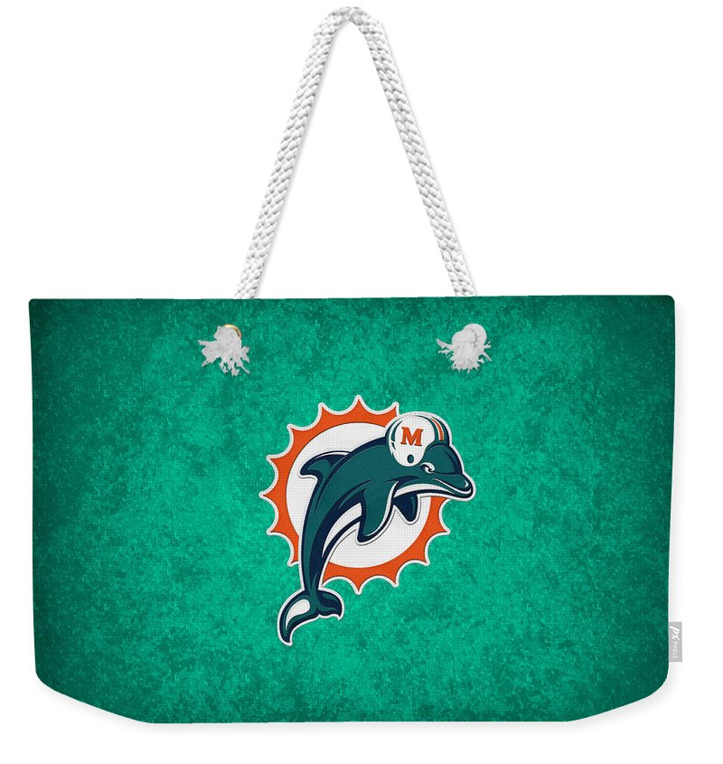 Dolphins Weekender Tote Bag featuring the photograph Miami Dolphins by Joe Hamilton