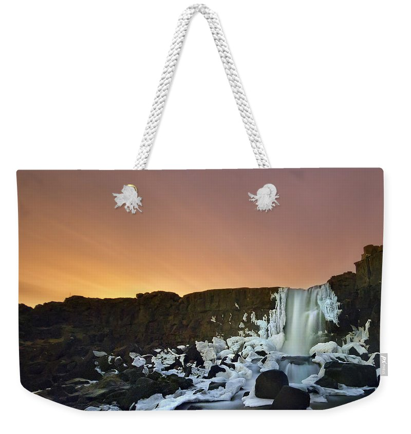 Oxararfoss Weekender Tote Bag featuring the photograph 10 Minutes Of Magic by Evelina Kremsdorf