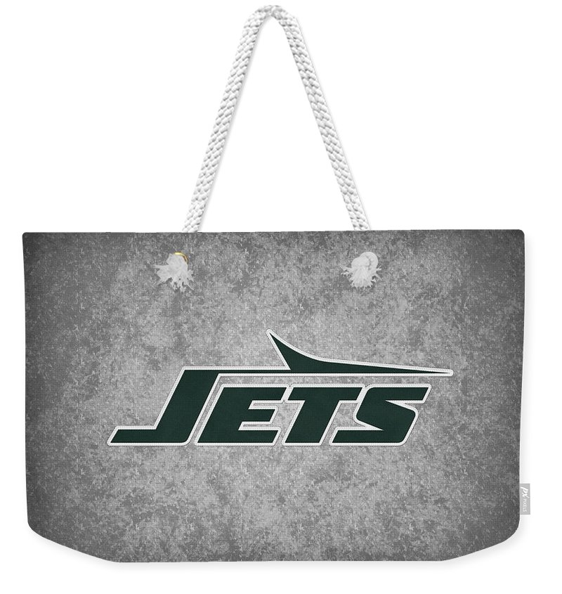 Jets Weekender Tote Bag featuring the photograph New York Jets by Joe Hamilton