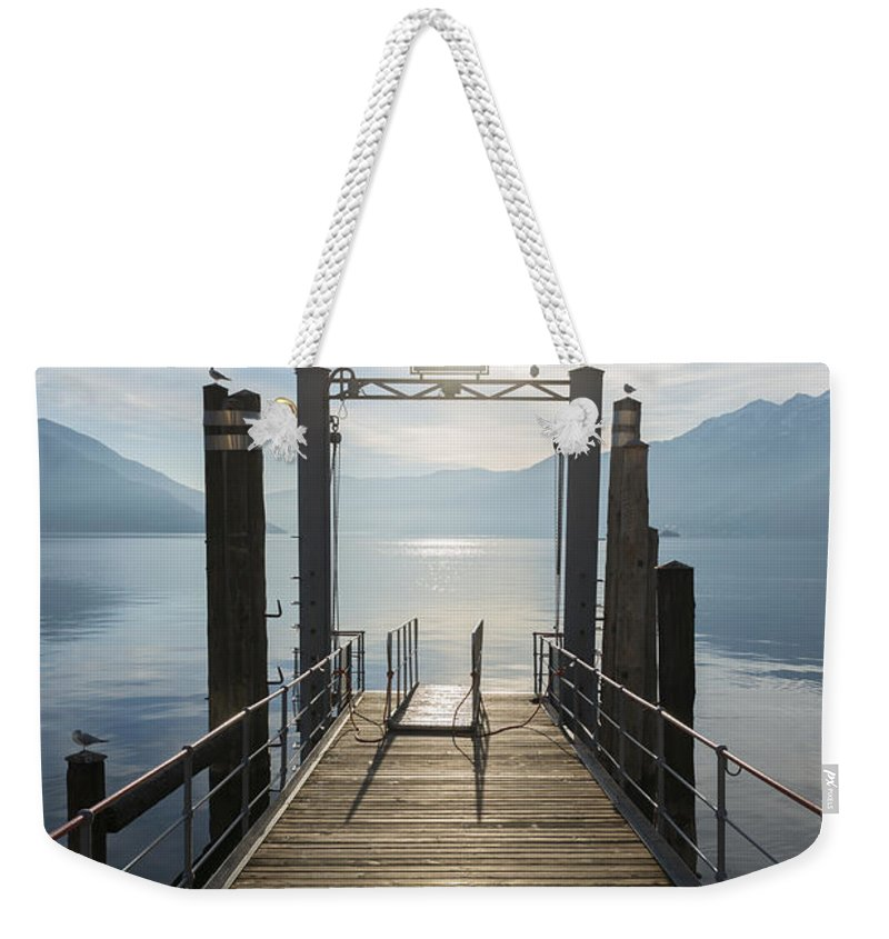 Harbor Weekender Tote Bag featuring the photograph Pier by Mats Silvan
