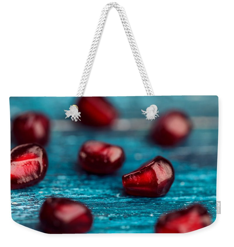Pomegranate Weekender Tote Bag featuring the photograph Pomegranate by Nailia Schwarz