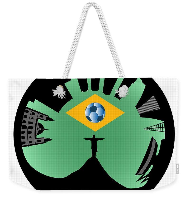 2014 Weekender Tote Bag featuring the digital art Rio De Janeiro Skyline by Michal Boubin