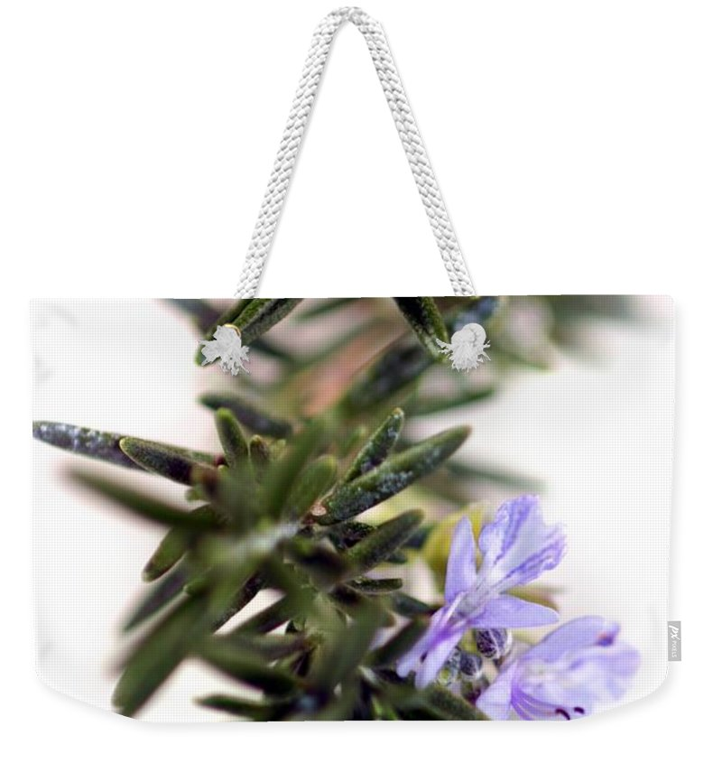 Purple Weekender Tote Bag featuring the photograph Rosemary by Henrik Lehnerer
