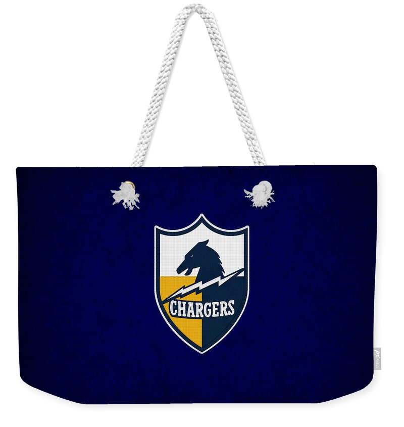 Chargers Weekender Tote Bag featuring the photograph San Diego Chargers by Joe Hamilton