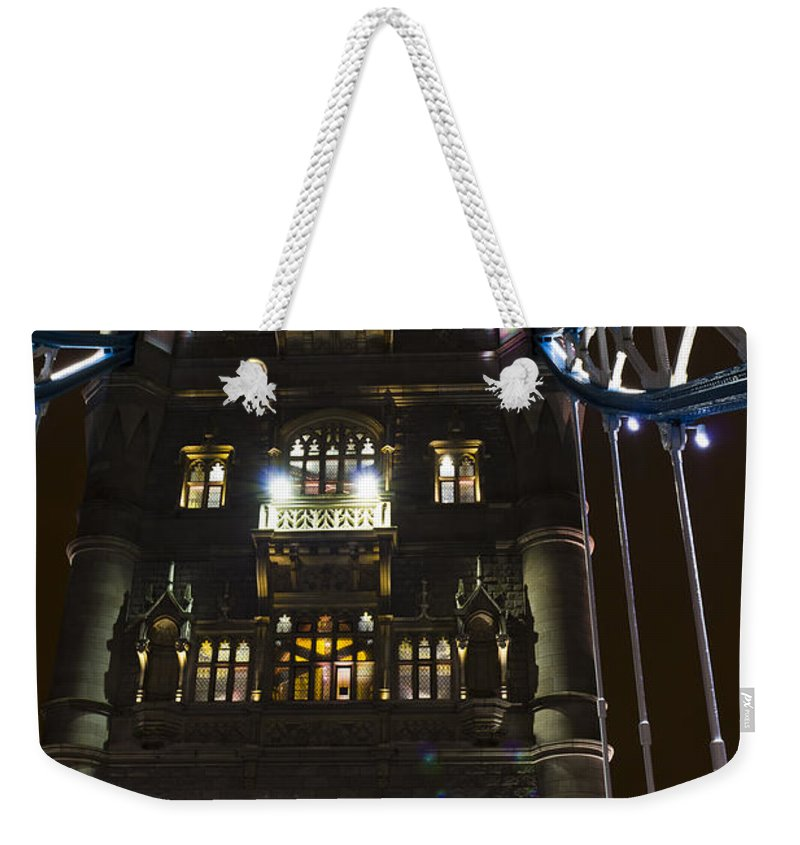 Tower Bridge Weekender Tote Bag featuring the photograph Tower Bridge by David Pyatt
