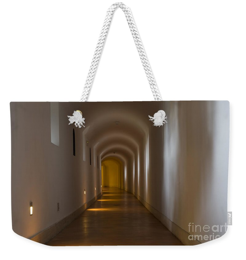 Corridor Weekender Tote Bag featuring the photograph Tunnel by Mats Silvan