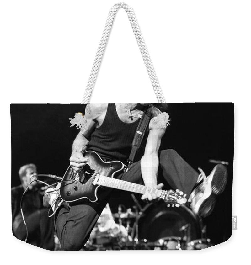Eddie Van Halen Weekender Tote Bag featuring the photograph Van Halen - Eddie Van Halen by Concert Photos