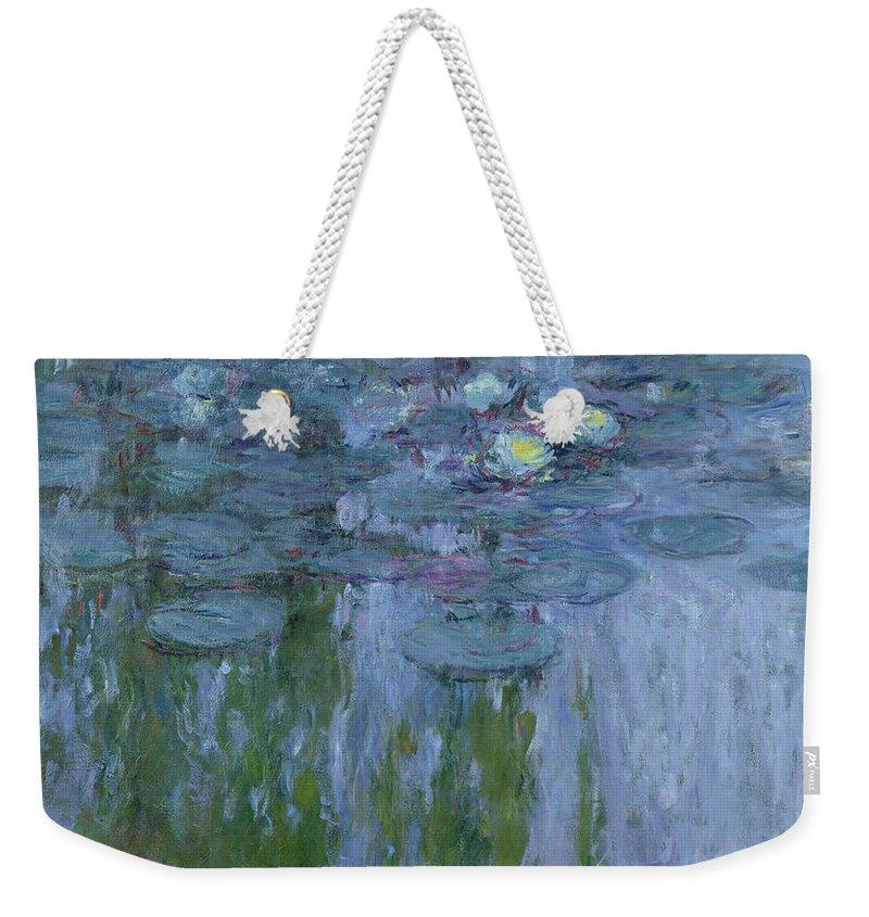Nympheas Weekender Tote Bag featuring the painting Waterlilies by Claude Monet