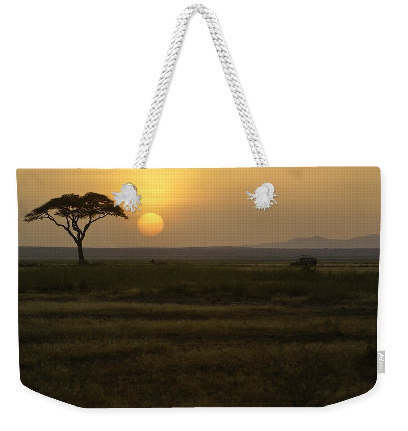 Africa Weekender Tote Bag featuring the photograph African Sunrise 11 by Michele Burgess