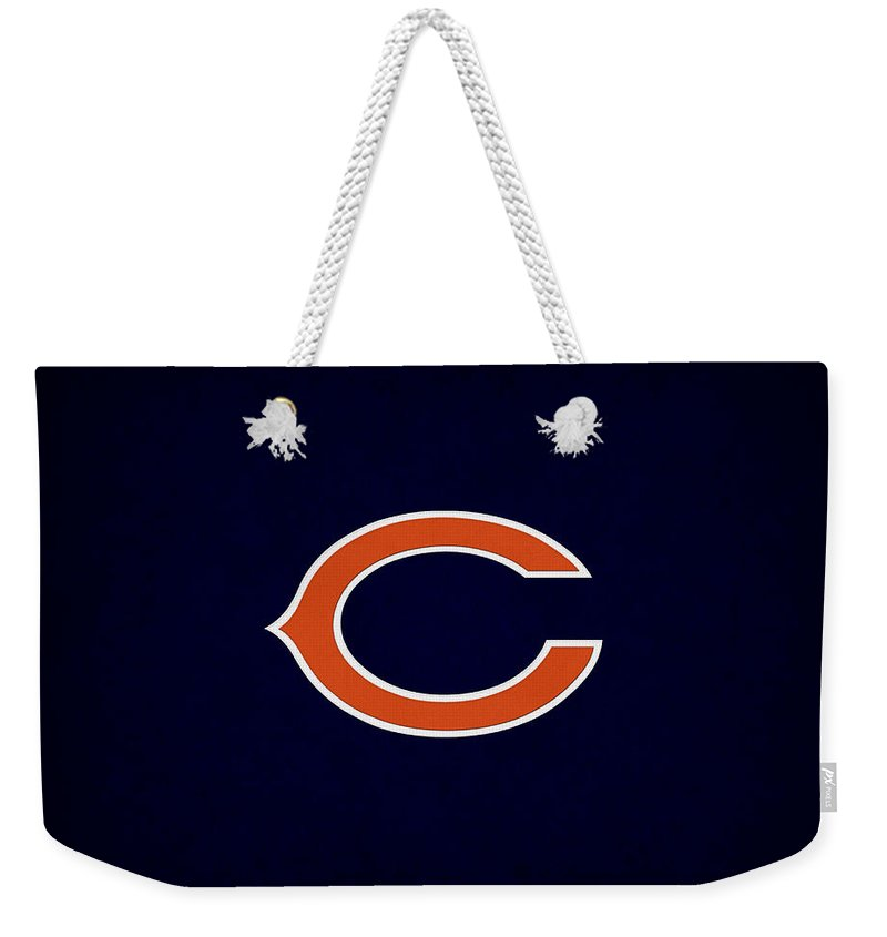 Bears Weekender Tote Bag featuring the photograph Chicago Bears by Joe Hamilton