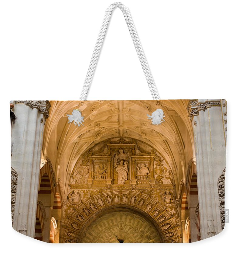 Mezquita Weekender Tote Bag featuring the photograph Mezquita Cathedral Interior In Cordoba by Artur Bogacki