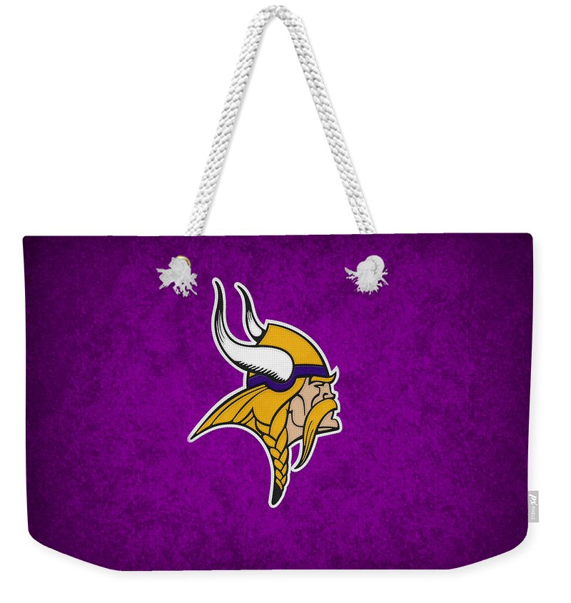 Vikings Weekender Tote Bag featuring the photograph Minnesota Vikings by Joe Hamilton