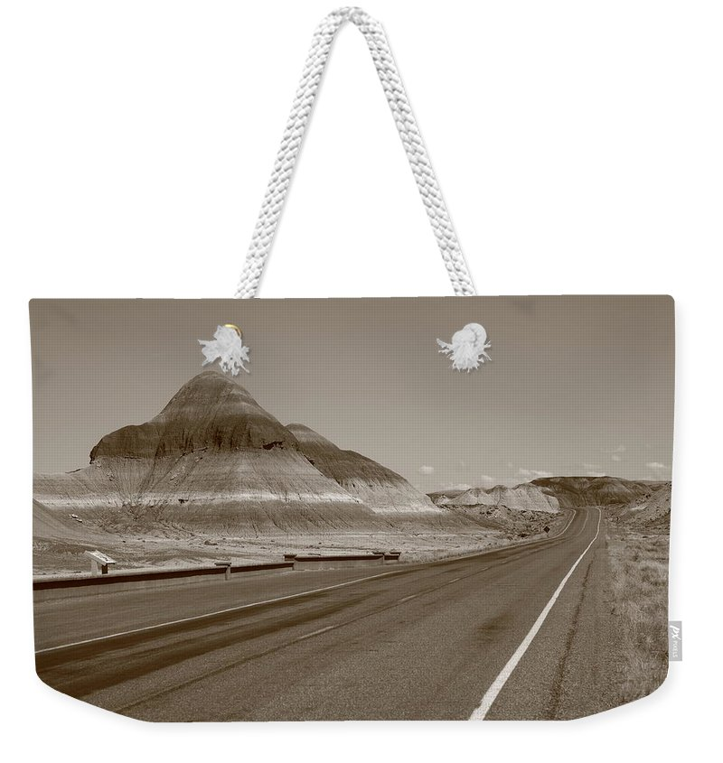 66 Weekender Tote Bag featuring the photograph Painted Desert by Frank Romeo