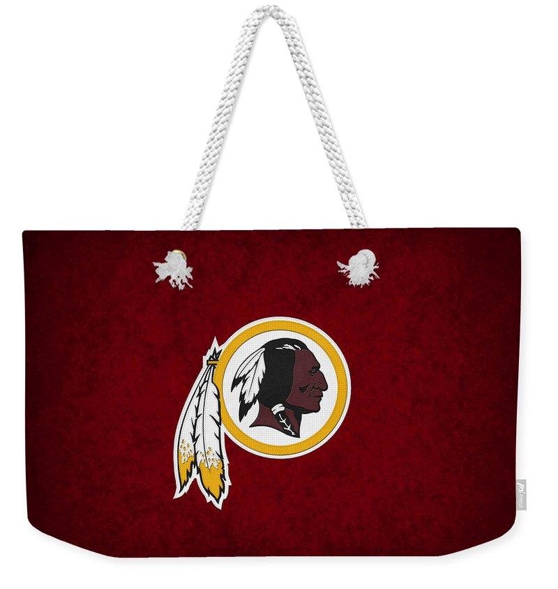 Redskins Weekender Tote Bag featuring the photograph Washington Redskins by Joe Hamilton