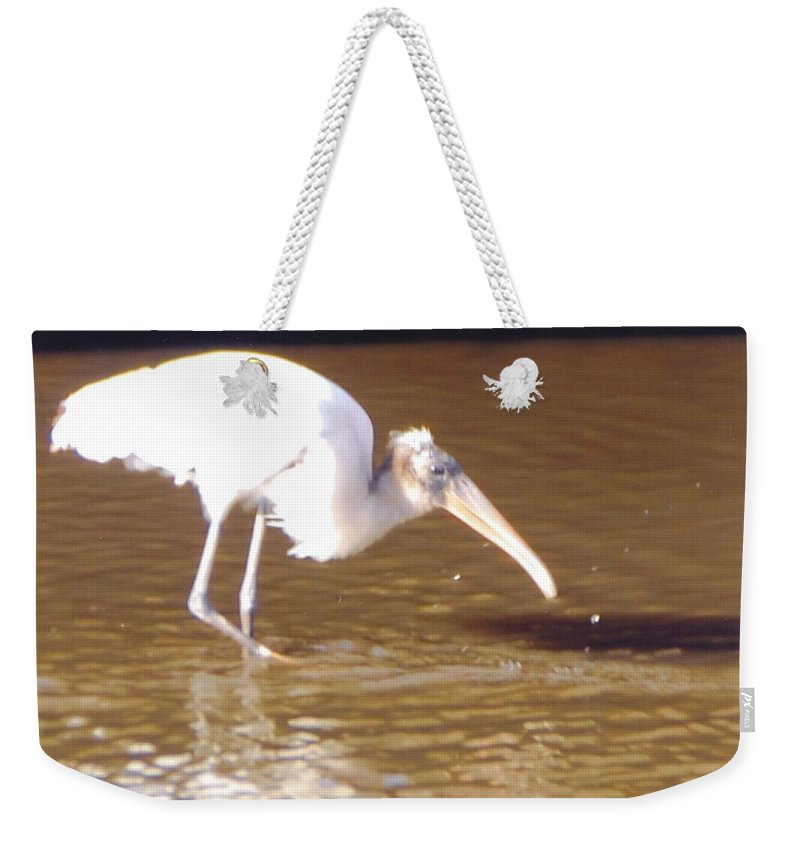 Fishing Weekender Tote Bag featuring the photograph Wood Stork by Robert Floyd