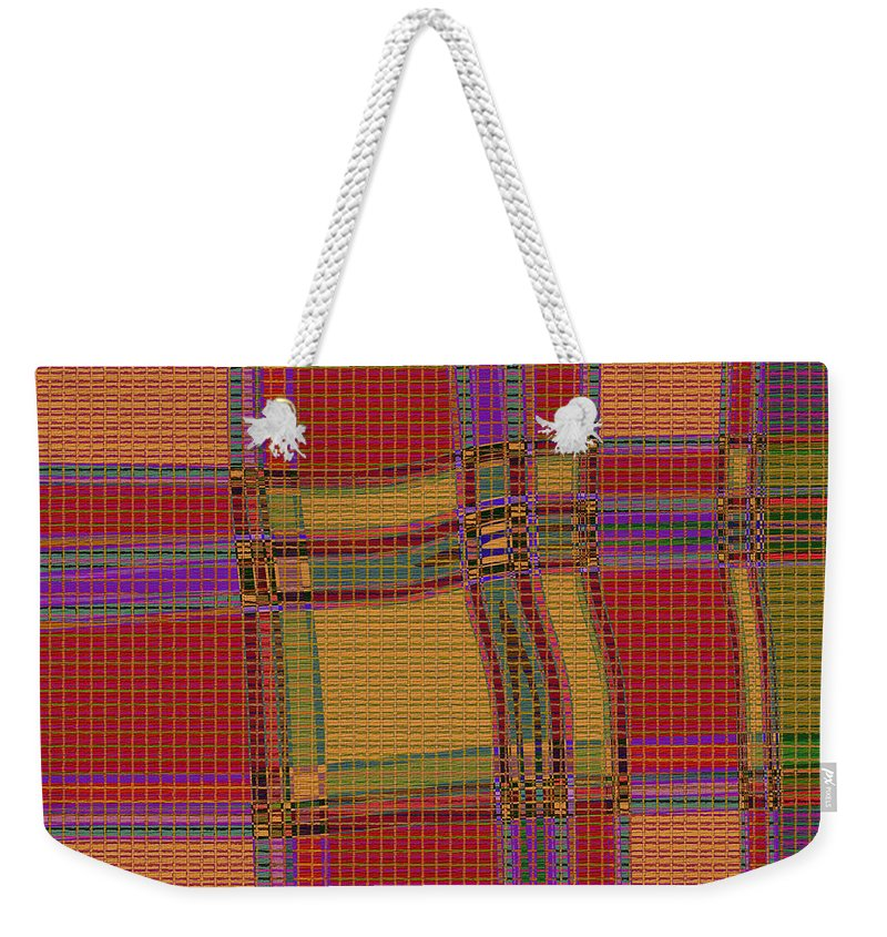 Abstract Weekender Tote Bag featuring the digital art 1137 Abstract Thought by Chowdary V Arikatla