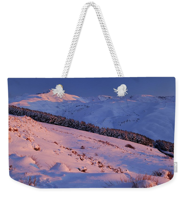 Sunset Weekender Tote Bag featuring the photograph Sierra Nevada by Guido Montanes Castillo