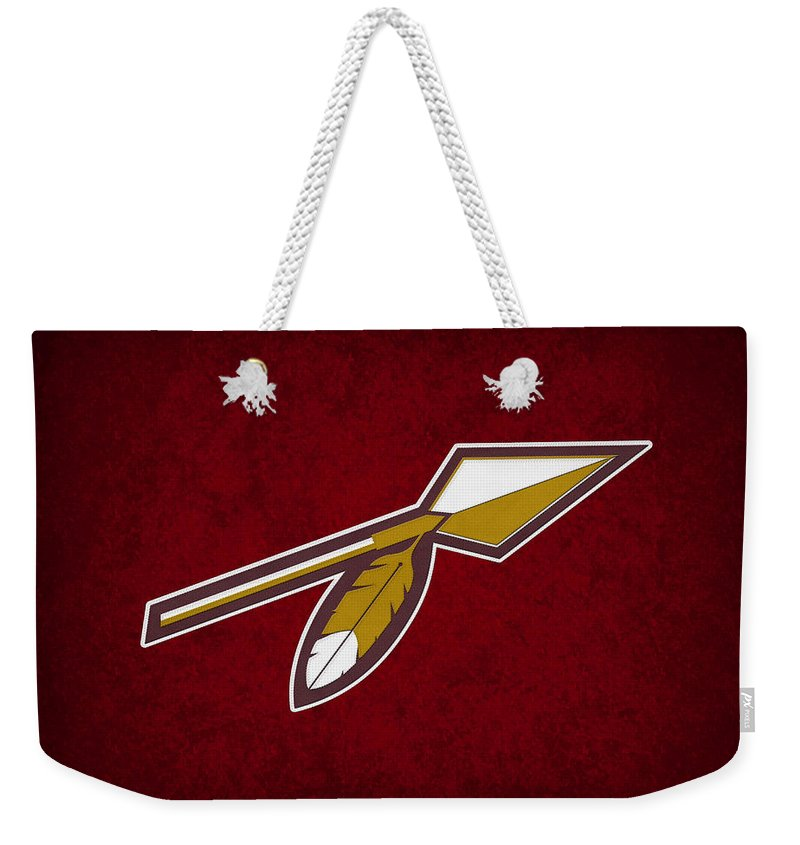 Redskins Weekender Tote Bag featuring the photograph Washington Redskins by Joe Hamilton