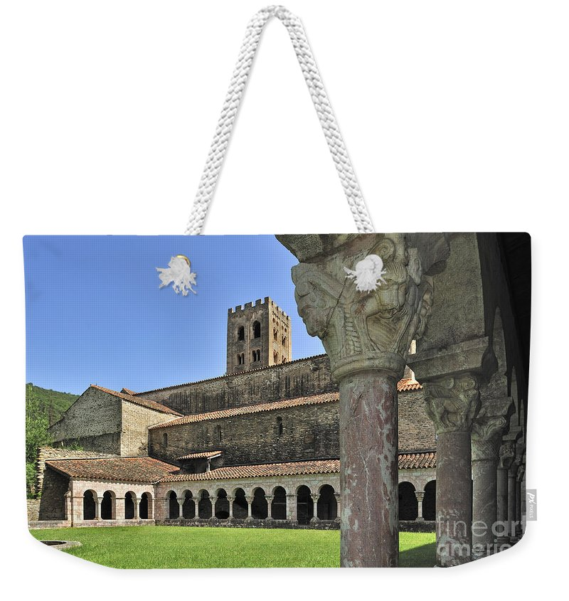 Saint-michel-de-cuxa Weekender Tote Bag featuring the photograph 120520p131 by Arterra Picture Library