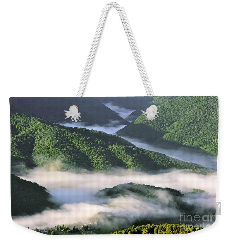 Col De Portel Weekender Tote Bag featuring the photograph 120520p233 by Arterra Picture Library