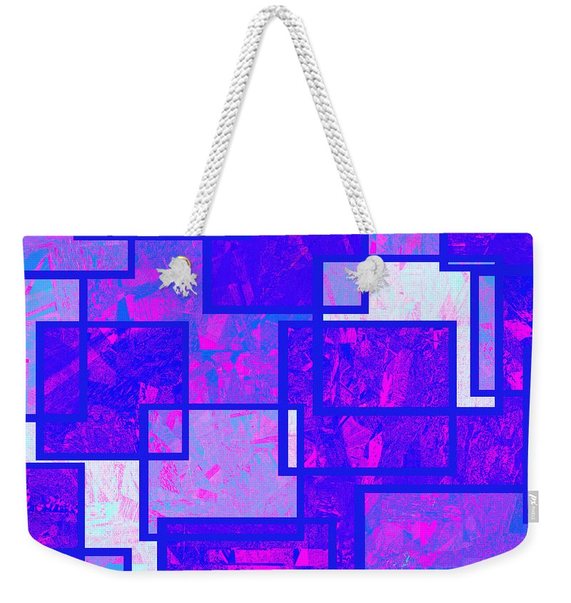 Abstract Weekender Tote Bag featuring the digital art 1216 Absract Thought by Chowdary V Arikatla