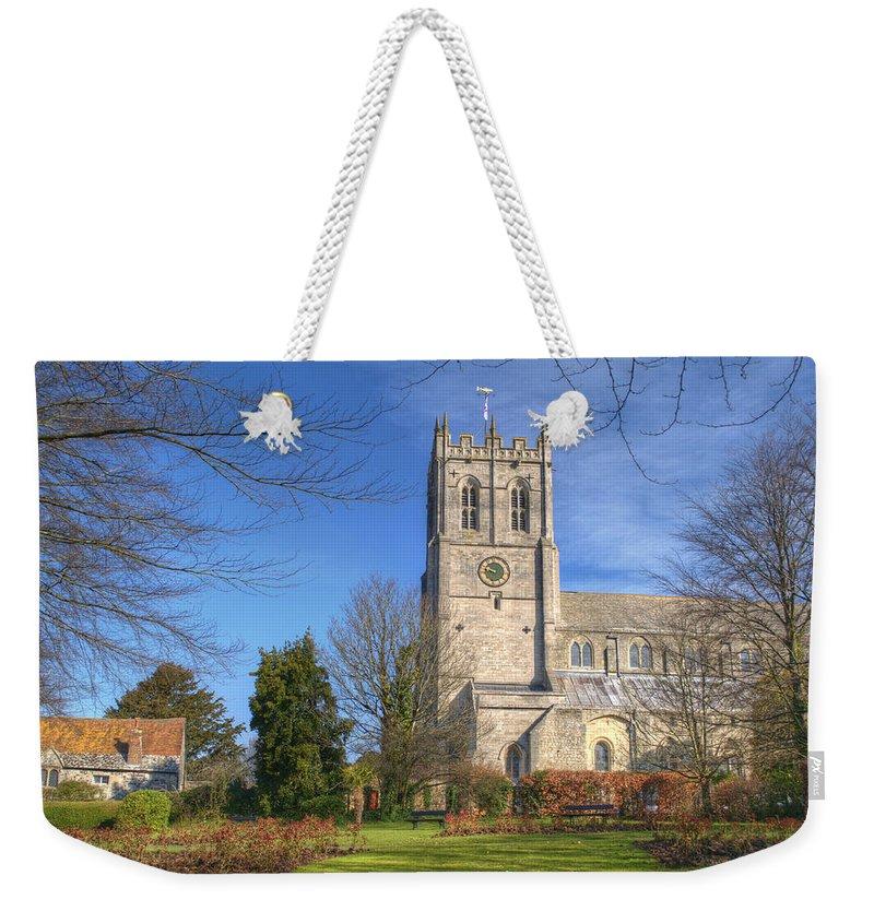 Christchurch Priory Weekender Tote Bag featuring the photograph Christchurch Priory by Chris Day