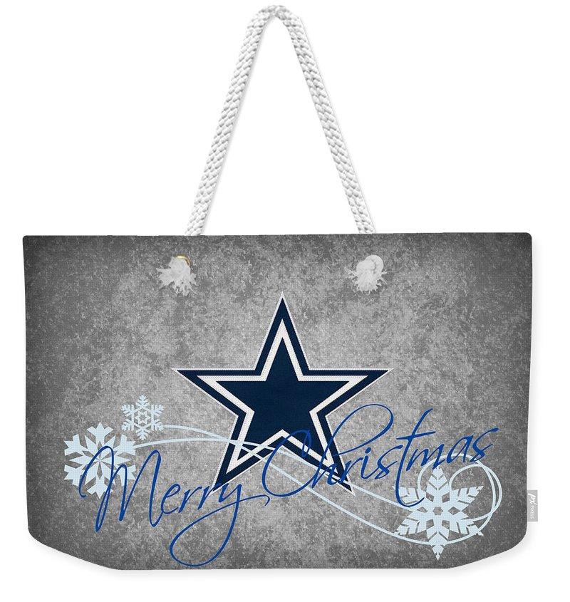 Cowboys Weekender Tote Bag featuring the photograph Dallas Cowboys by Joe Hamilton