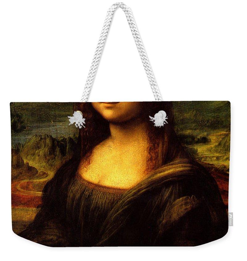 Mona Lisa Weekender Tote Bag featuring the digital art Mona Lisa by Leonardo Da Vinci
