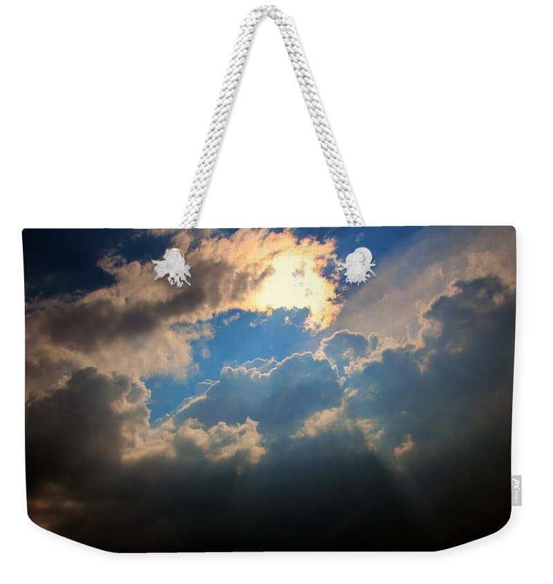 Stormscape Weekender Tote Bag featuring the photograph More Strong Cells Moving Over South Central Nebraska by NebraskaSC