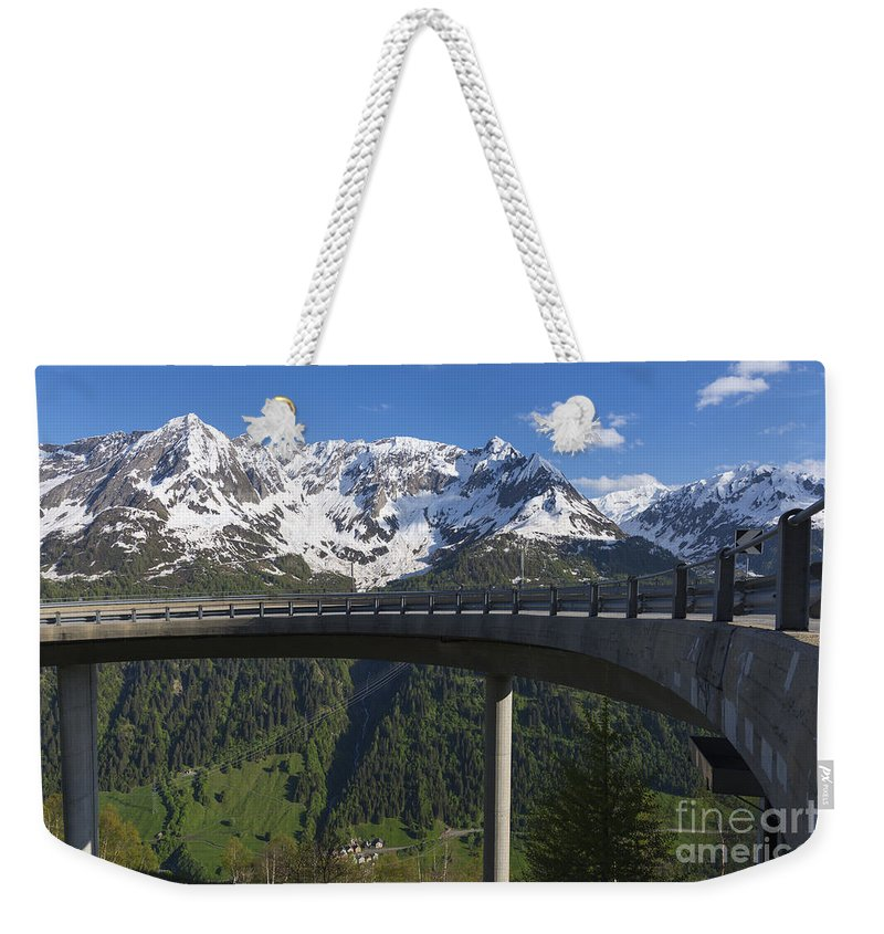 Mountain Weekender Tote Bag featuring the photograph Mountain Road by Mats Silvan