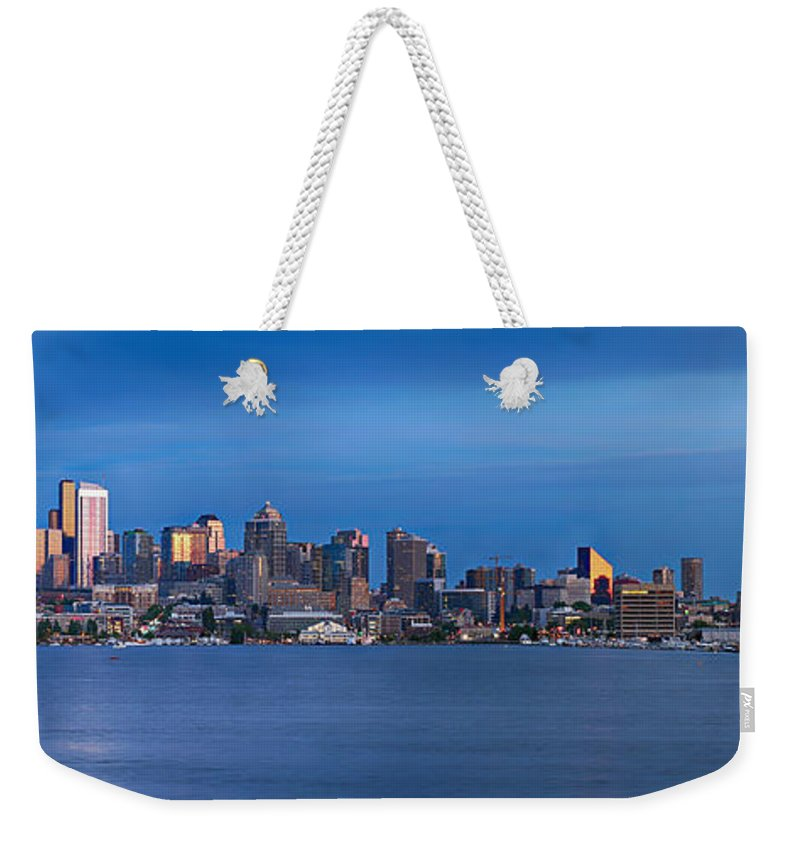 Seattle Weekender Tote Bag featuring the photograph Seattle by Paul Fell