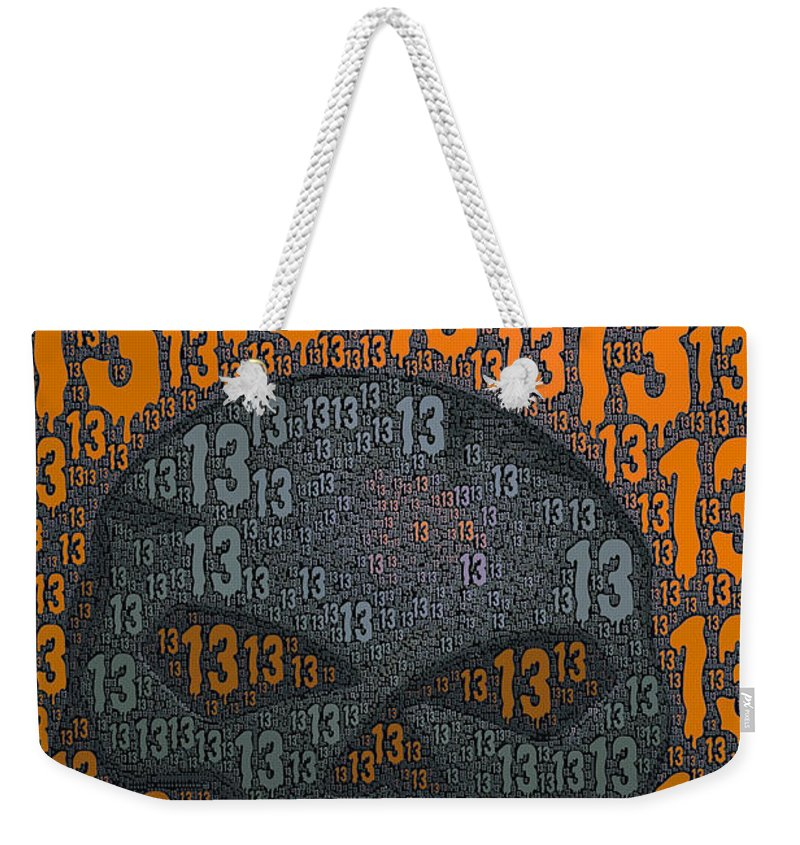 13 Weekender Tote Bag featuring the photograph 13 Skull by Bill Owen
