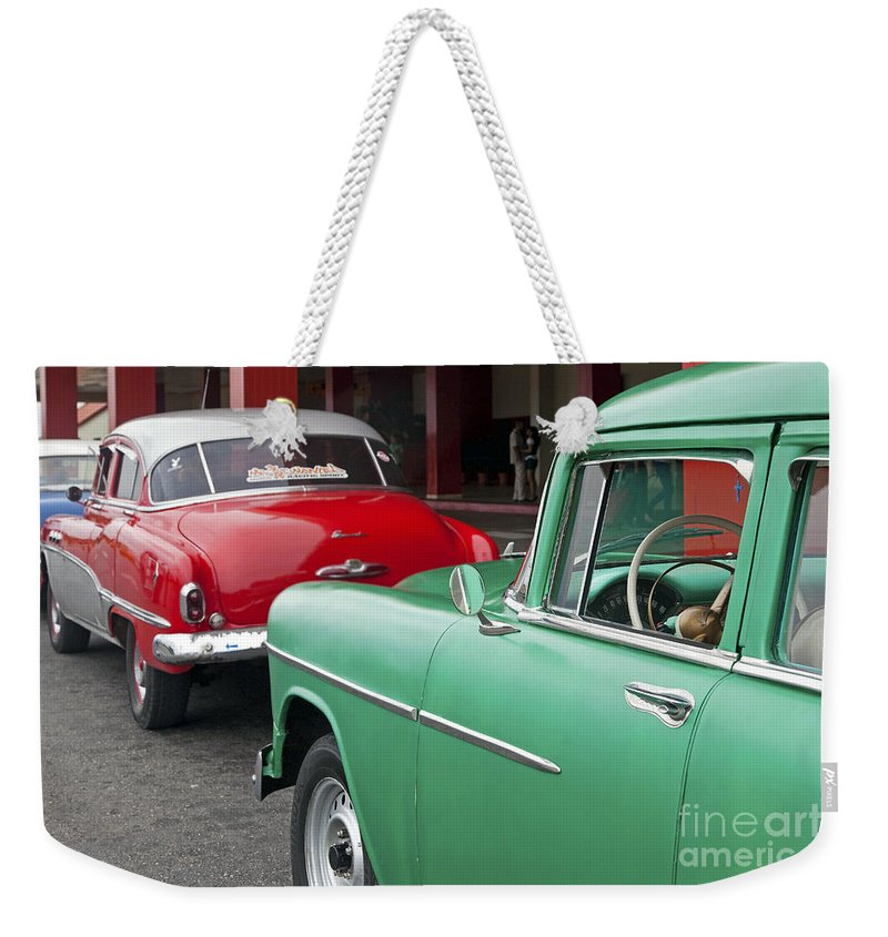 Colourful Weekender Tote Bag featuring the photograph 130215p007 by Arterra Picture Library