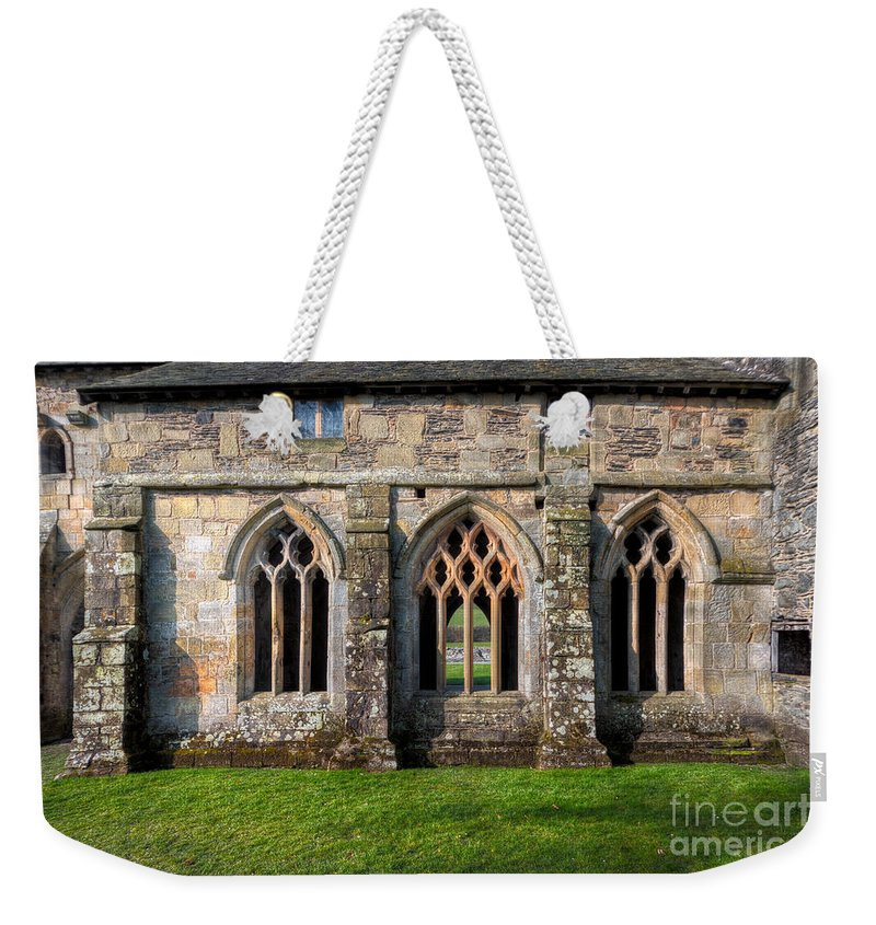 13th Century Weekender Tote Bag featuring the photograph 13th Century Abbey by Adrian Evans