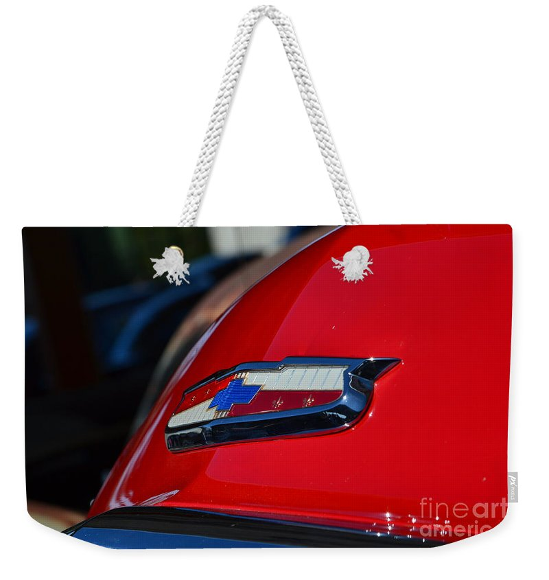 Chevy Weekender Tote Bag featuring the photograph Half Moon Bay Hs Show by Dean Ferreira