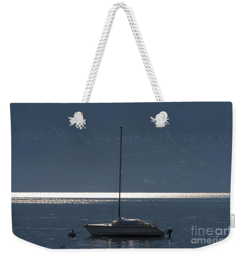 Sailing Boat Weekender Tote Bag featuring the photograph Sailing Boat by Mats Silvan