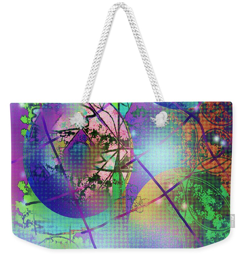 Abstract Design Weekender Tote Bag featuring the digital art Digital Picture 140520132043 by Oleg Trifonov