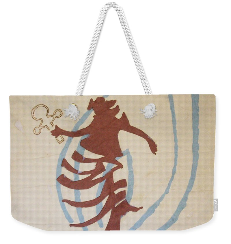 Jesus Weekender Tote Bag featuring the painting The Wise Virgin by Gloria Ssali