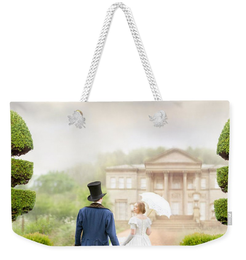 Victorian Weekender Tote Bag featuring the photograph Victorian Couple by Lee Avison