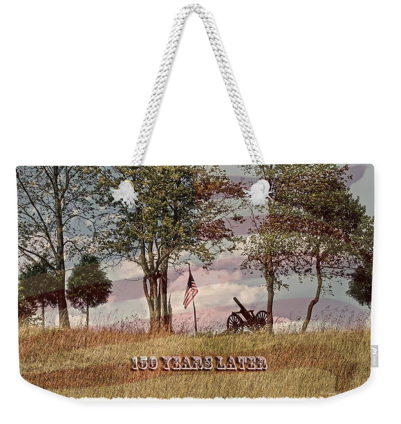 150 Years Later Weekender Tote Bag featuring the photograph 150 Years Later by Randall Branham