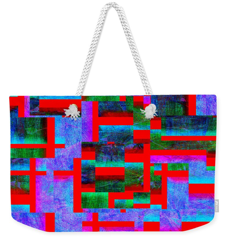 Abstract Weekender Tote Bag featuring the digital art 1520 Abstract Thought by Chowdary V Arikatla