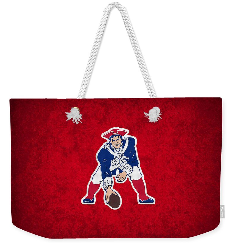 Patriots Weekender Tote Bag featuring the photograph New England Patriots by Joe Hamilton