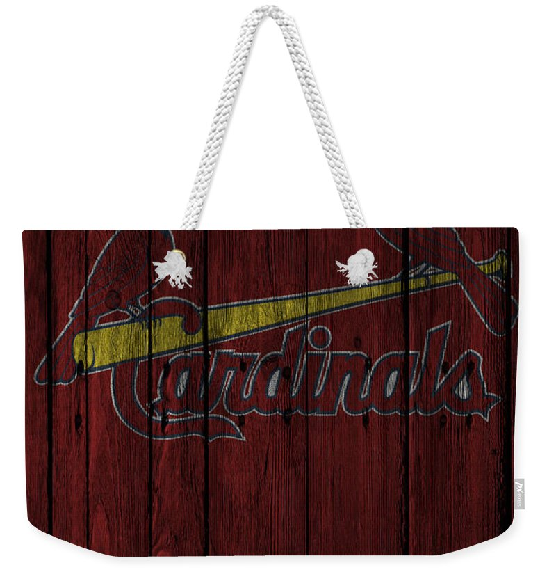 Cardinals Weekender Tote Bag featuring the photograph St Louis Cardinals by Joe Hamilton