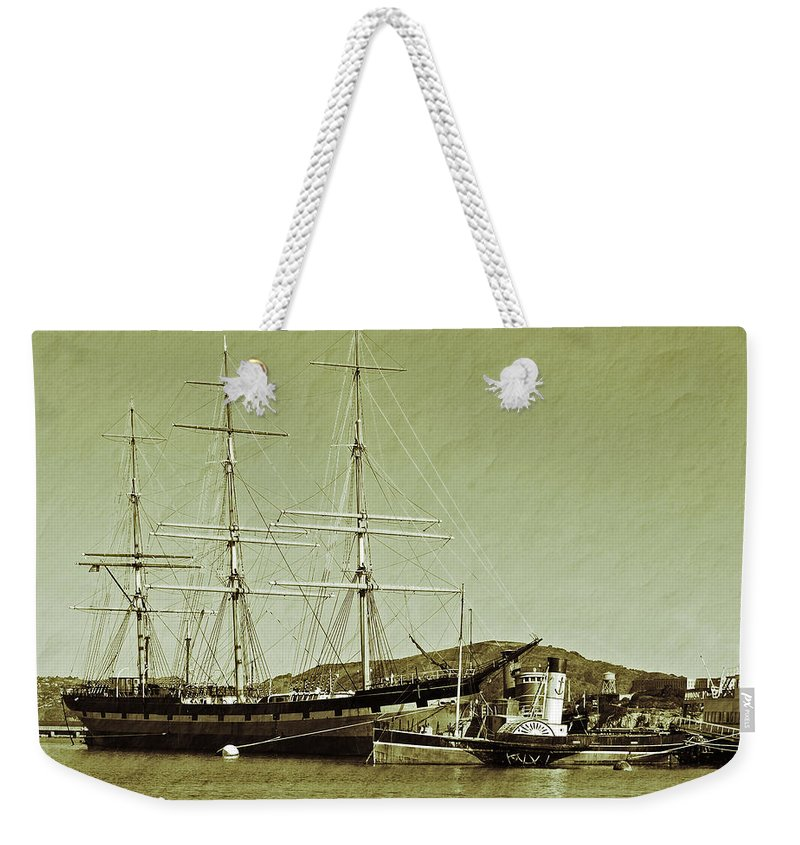 Francisco Weekender Tote Bag featuring the photograph 1886 Balclutha by Holly Blunkall