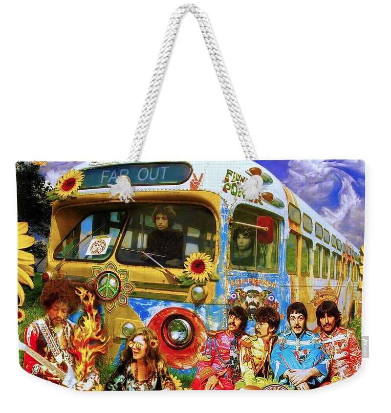 1967 Weekender Tote Bag featuring the photograph 19 Sixty 7 by John Anderson