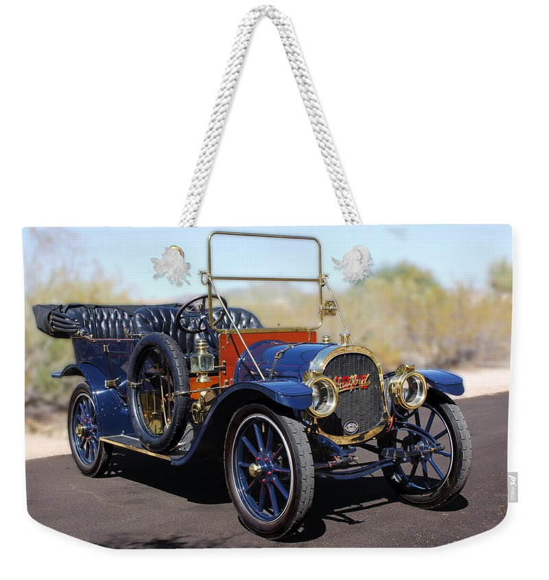 1910 Pope Hartford Model T Weekender Tote Bag featuring the photograph 1910 Pope Hartford Model T by Jill Reger