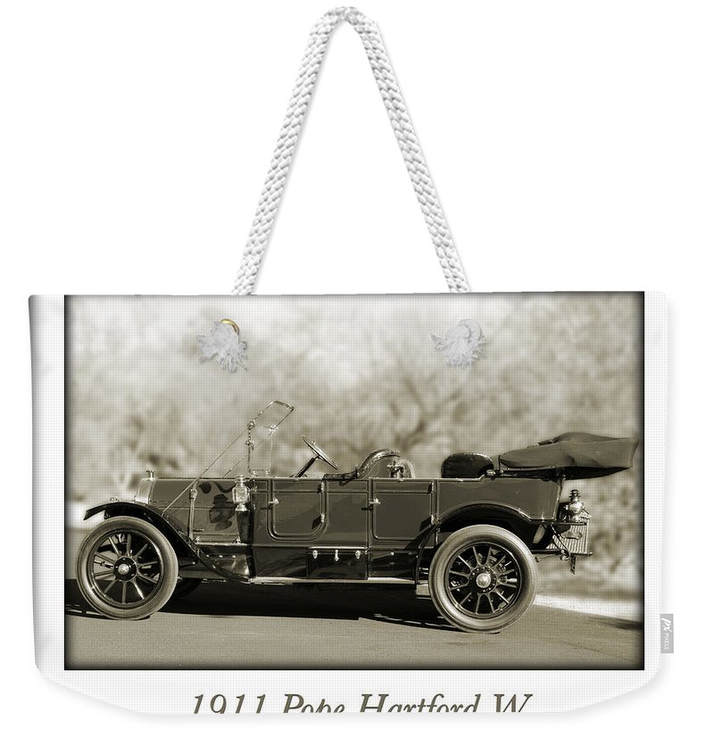 1911 Pope Hartford W Weekender Tote Bag featuring the photograph 1911 Pope Hartford W by Jill Reger
