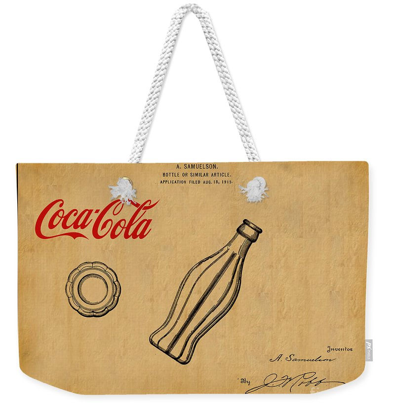 Coca 1915 For Cola Design Patent 1 Weekender Bag Bottle Art Tote 7mIYf6gyvb